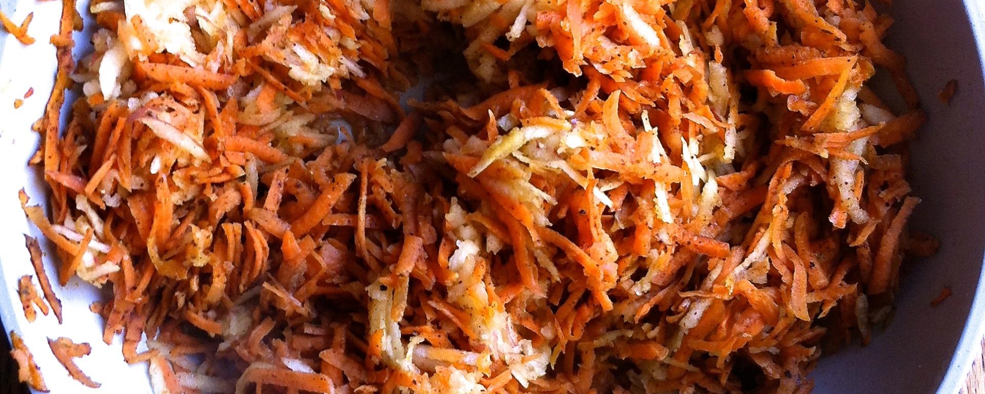 zanahorias, manzana, especias, paleo, primal, comida de verdad