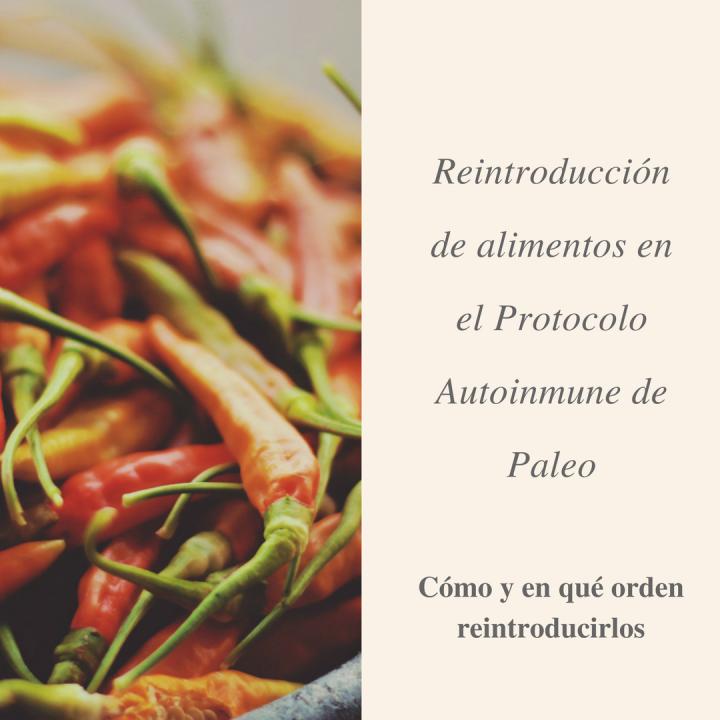 La fase de reintroducción de alimentos en el protocolo autoinmune (AIP) de paleo