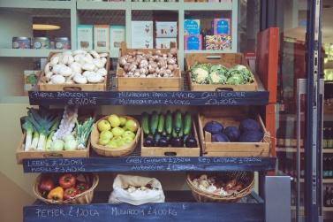veggies in shop