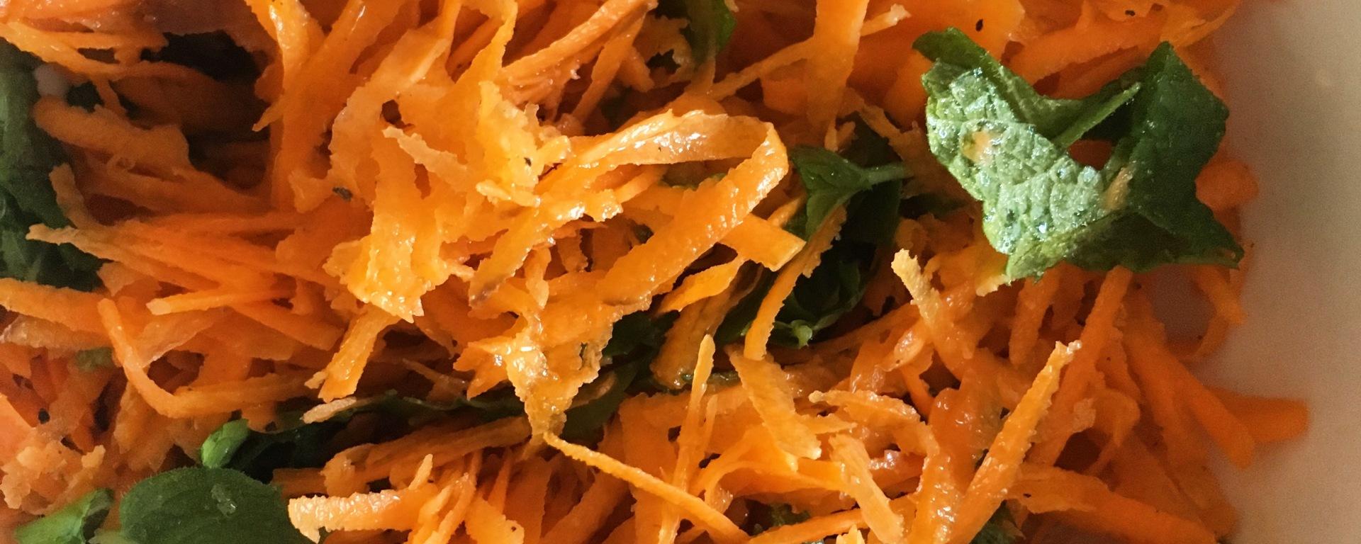 Ensalada marroquí de zanahoria y naranja