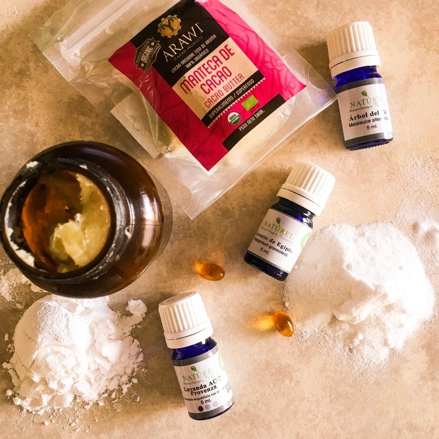 desodorante a base de manteca de cacao y karité